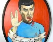 Original Painting, Zombie, Spock