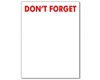 The Classic Don't Forget Notepad