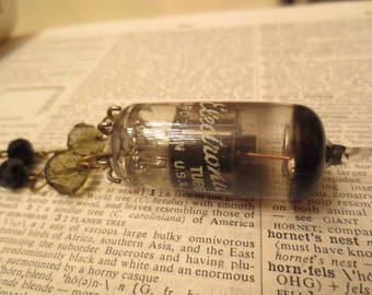 Vintage GE Radio Glass Vacuum Tube Necklace