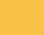 "Riley Blake ""Zoofari"" Organic Cotton Dots on Yellow 28"" Remnant"