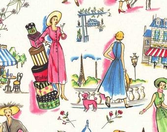 """Michael Miller Fabrics """"Essentials"""" Springtime in Paris in Multi 1 Yard Cut"""