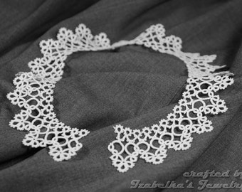 Lace tatted collar II - made to ORDER