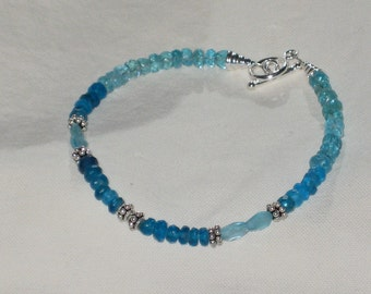PRICE CUT Two Tone Apatite and Sterling Silver Bracelet