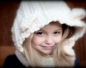 Toddler Crochet Hooded Bear Cowl, Crochet BEAR Cowl, Hooded Cowl