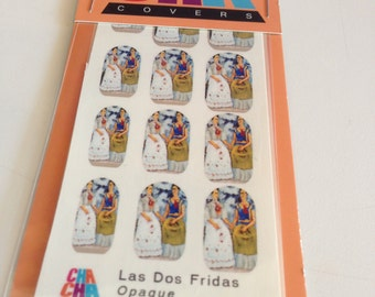 Nail Decals featuring Las Dos Fridas the two Frida Kahlos