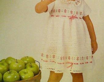 Vintage Little Girls Crocheted Dress Pattern