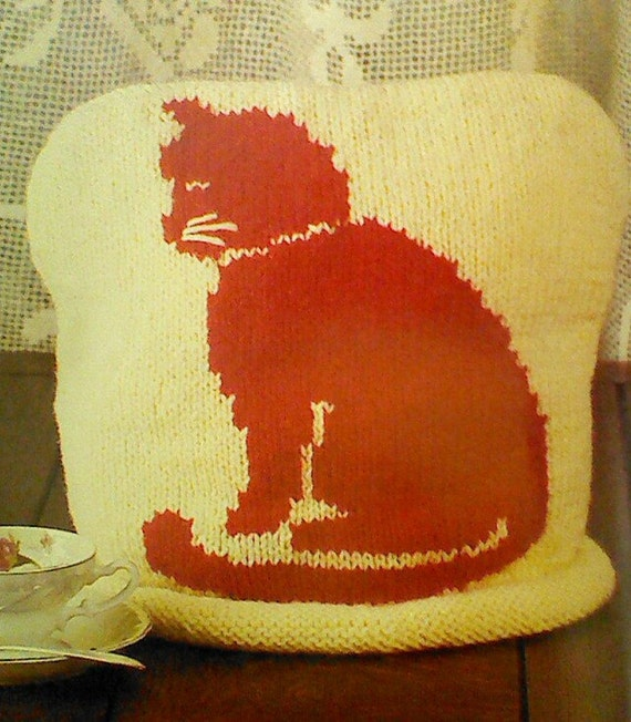 Vintage Tea Cosy Knitting Patterns : 5 Five Vintage Knitted Tea Cozy Patterns by MAMASPATTERNS on Etsy