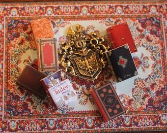 Dollhouse Miniature set of HISTORICAL  books