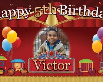 Circus Personalized Custom Birthday Banner