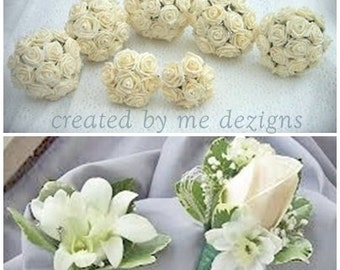 11 piece Custom designed Wedding flower package
