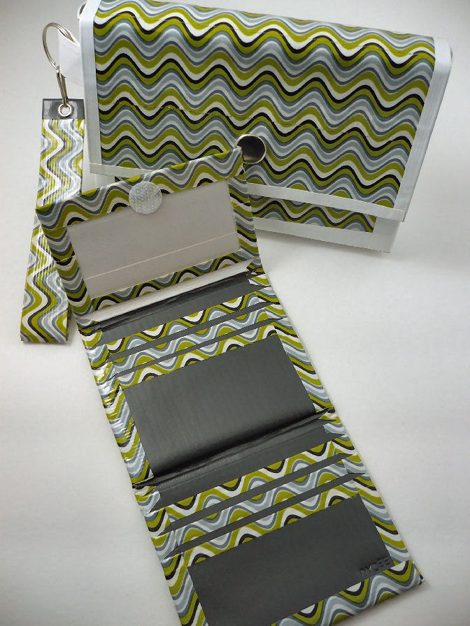 how to make a wallet out of duct tape trifold