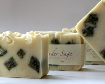Handmade Soap - Lavender Sage Soap - Vegan Soap - Handmade Lavender Soap - Herbal Soap - Wholesale Soap