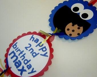 Sesame Street Birthday Door Sign Customized