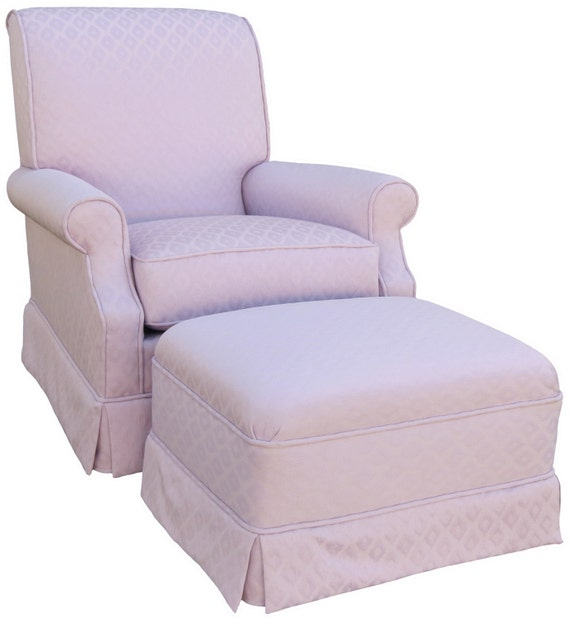 Lavender Gemstone Upholstered Adult Rocker Glider Chair and Ottoman ...