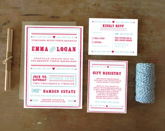 DIY Printable Wedding Invitation Carousel - 4 pieces