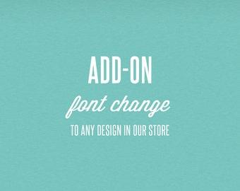 Font Change Add-On - DIY Printable Stationery