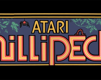 "Millipede Marquee, Arcade, 12 x 36"" Video Game Poster, Print"