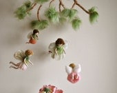 Children Mobile Spring Fairies Waldorf inspired needle felted dolls: Flower  fairies (Made to Order)