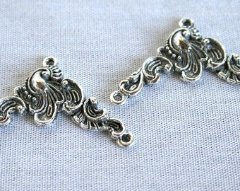 2 Tibetan Silver Vintage Style 1 to 2 Connectors/Bead Components