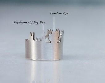 London Skyline - Sterling silver ring