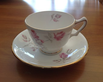 Crown Staffordshire English Fine Bone China Teacup and Saucer