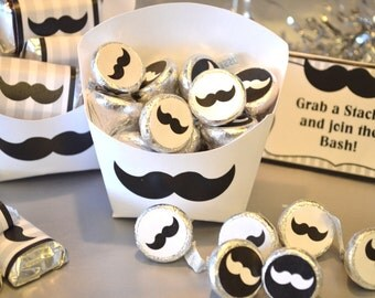 INSTANT DOWNLOAD Printable Mustache Fry Box ONLY