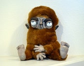 Brown Ape-like Original Posable Plush Creature