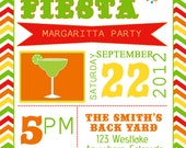 Fiesta Party Invitation/Invite.  Birthday, Baby Shower, Summer Party  Picnic, Housewarming, Good Bye Party, Family Reunion