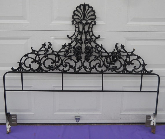 vintage queen headboard iron 2