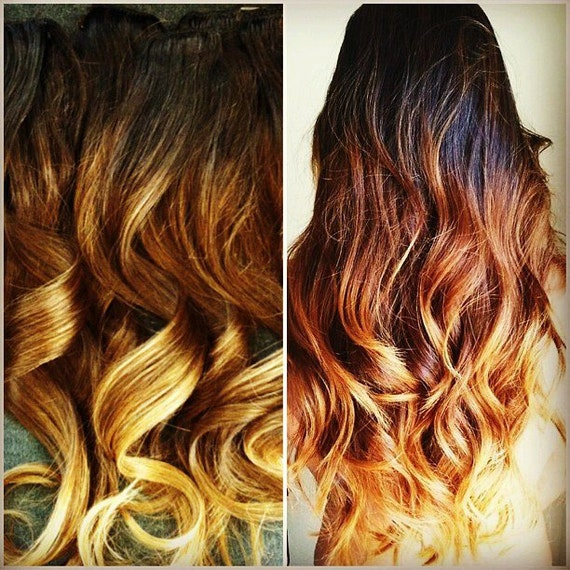 """14"""" Clip-In Hair Extensions Custom Colored or Ombre"""