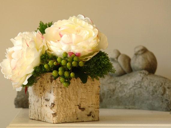 Birke rinde holz vasen quadratisch hochzeit blumentopf for Wood vases for centerpieces