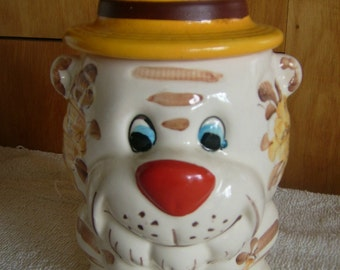 Happy Tiger Cookie Jar