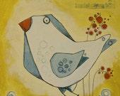 25/100 Squares Project: small original bird