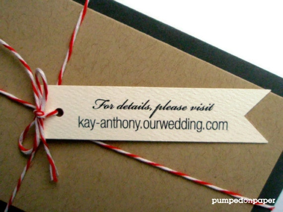 cream banner tags - personalized - wedding invitation decoration - wedding favor tags - double sided printing - set of 20