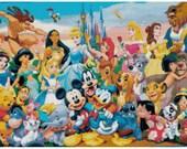 Disney Characters cross stitch pattern 001