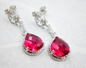 Ruby Red Silver Cubic Zir...