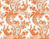 Chinoiserie Collection for Anna Griffin Fabrics One Yard of Sampan in Orange