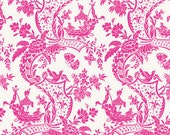 Chinoiserie Collection for Anna Griffin Fabrics One Yard of Sampan in Pink