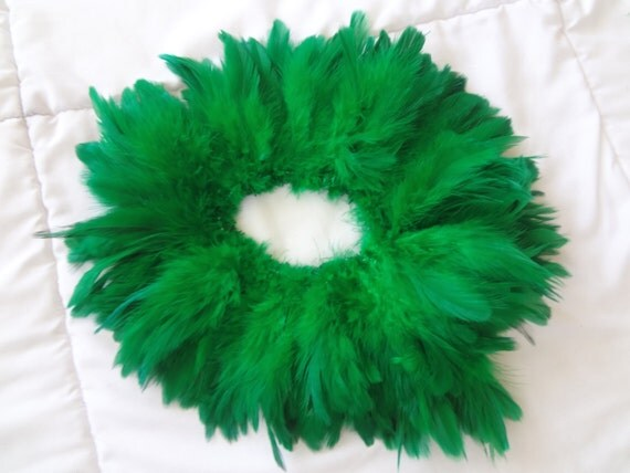 Emerald Green Rooster Schlappen Feathers Bulk Supply