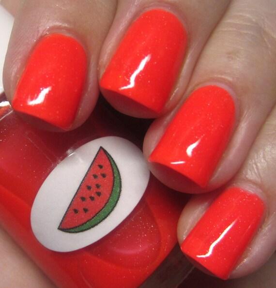 Neon Shimmer Jelly Watermelon Nail Polish