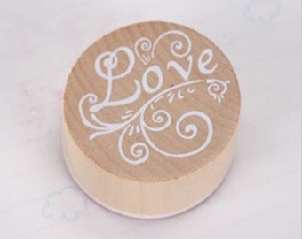 Blessing Words Stamp - Wooden Rubber Stamp - Diary Stamp - Love