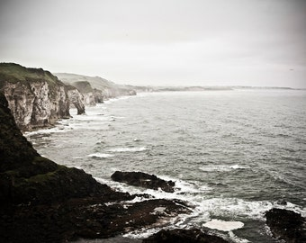 Where the Waves Break - Dramatic Ocean Scene of Northern Ireland