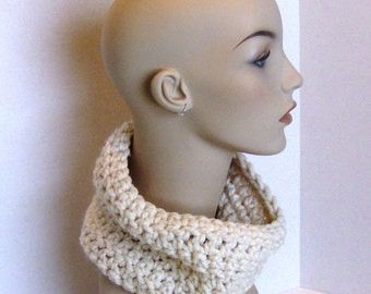 Crochet Pattern Quick and Easy Chunky Crochet Cowl Neck Scarf Instant Download