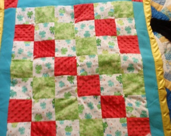 FROGGY DELIGHT - Baby Quilt