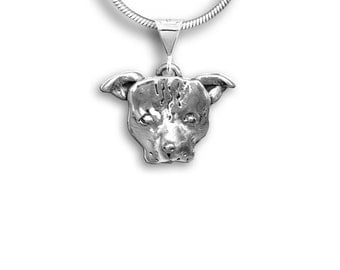 Sterling Silver Pit Bull Pendant