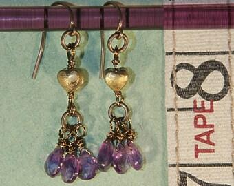 3 Amethyst Earrings