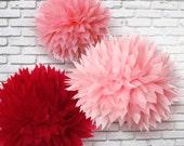 Tissue paper poms - Set of 12
