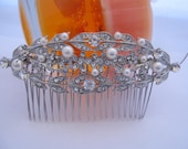 1920's Bridal accessories 1920's Wedding hair jewelry Bridal hair comb Wedding headpiece Bridal hair accessories Wedding jewelry Bridal comb