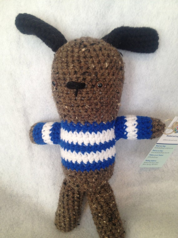 Amigurumi Stuffed Animals : Amigurumi Scruffy Dog Stuffed Animal in by hookedandloopy ...