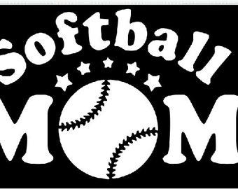 Softball Mom Decals